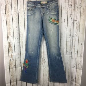 Benina Bootcut Flare Embroidered Jeans Size 3